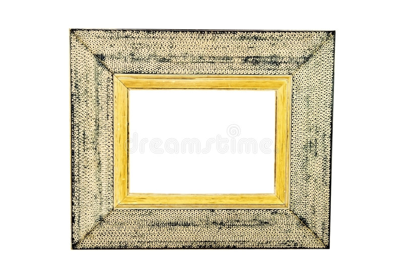 框架照片土气白色 免版税库存图片