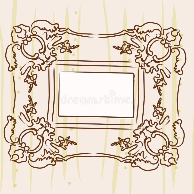 框架照片墙壁 库存例证