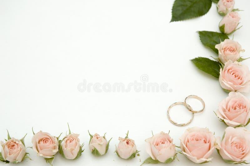 框架照片婚礼 免版税图库摄影