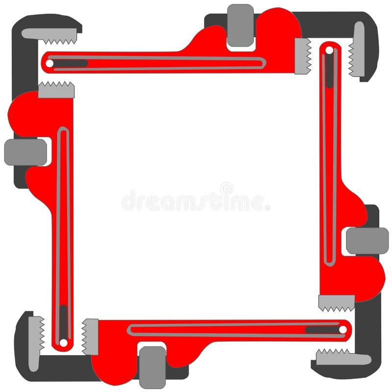 框架照片管扳手 库存例证