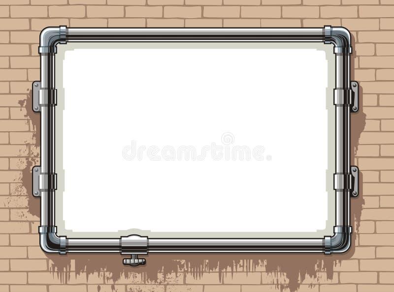框架照片管道钢 向量例证