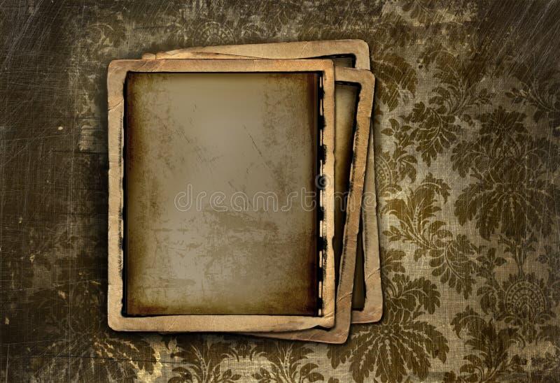 框架照片葡萄酒 库存例证