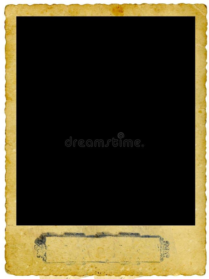 框架照片葡萄酒 库存图片
