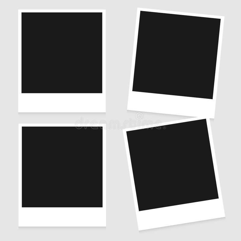 框架照片集合葡萄酒 皇族释放例证