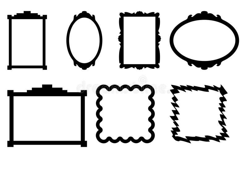 框架照片 库存例证