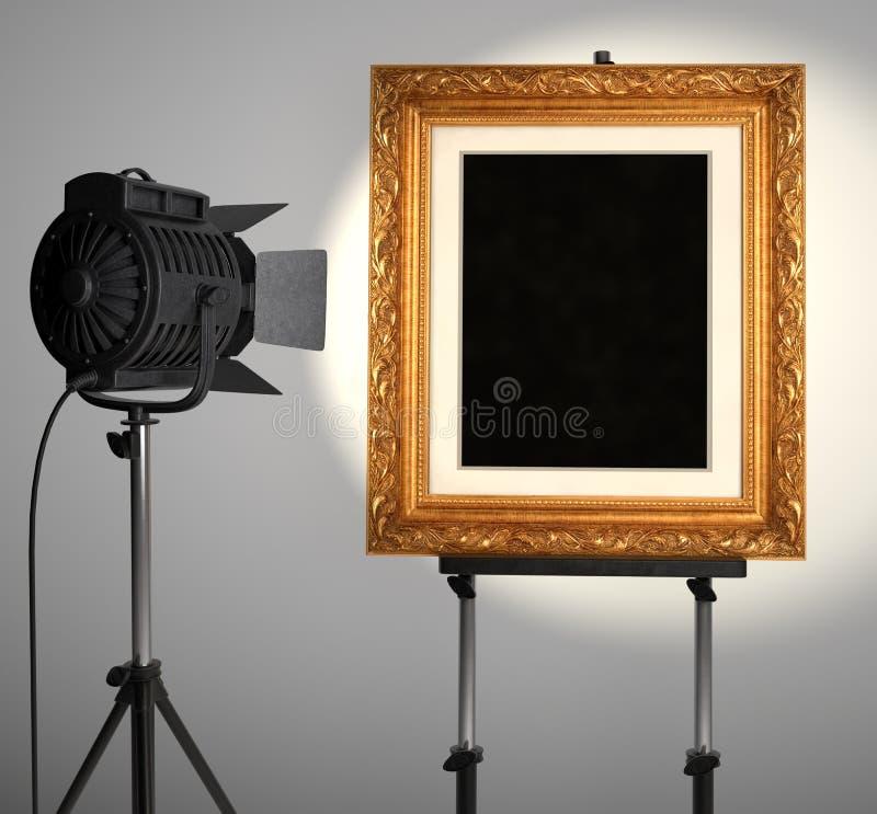 框架照片spotlit 向量例证