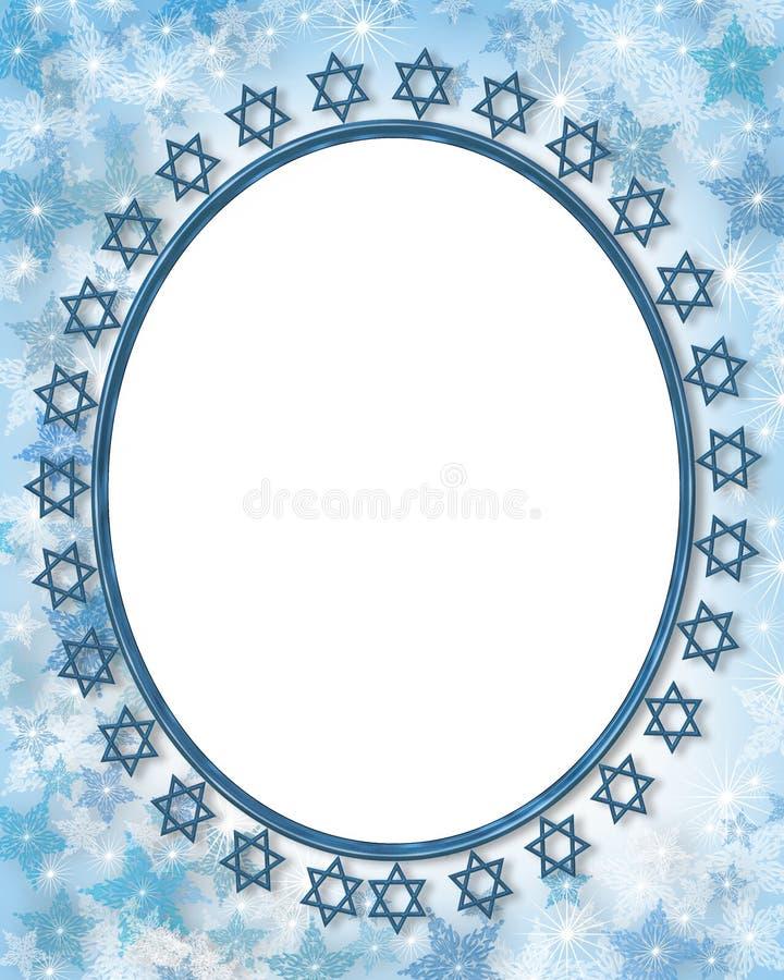 框架犹太星形 皇族释放例证