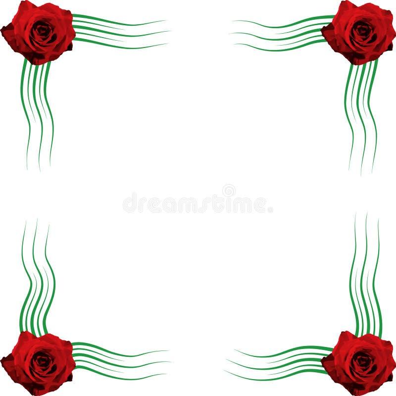框架玫瑰向量 向量例证