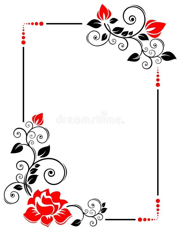 框架玫瑰 皇族释放例证