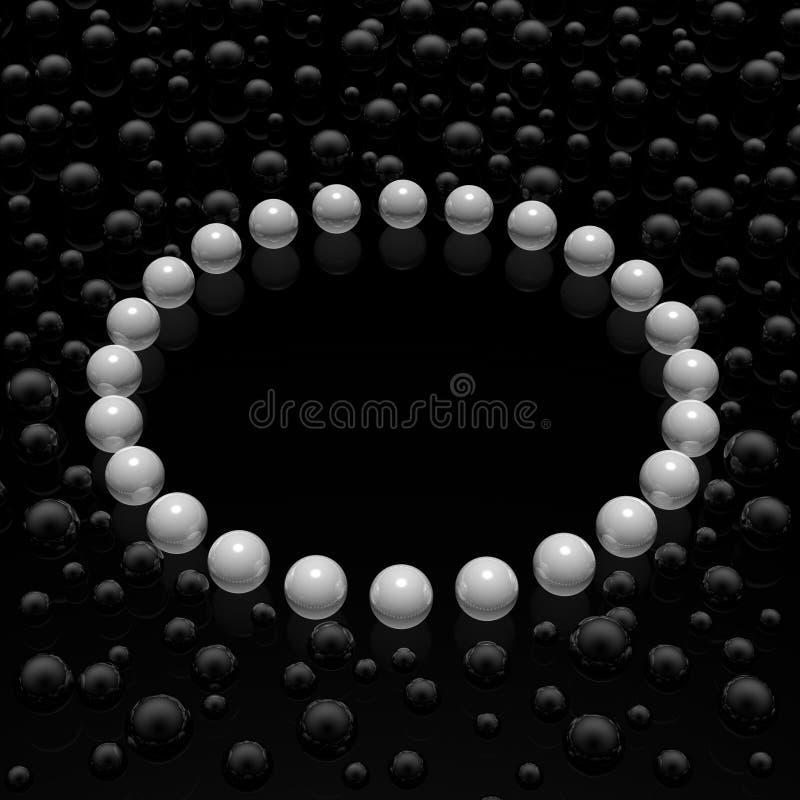 框架珍珠 向量例证
