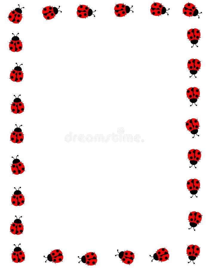 框架瓢虫 库存例证