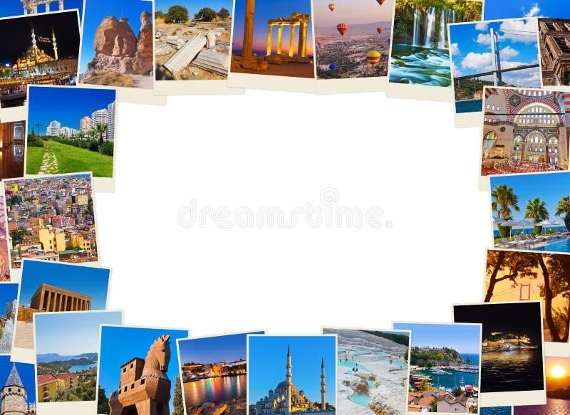 框架由土耳其旅行图象做成 免版税库存照片