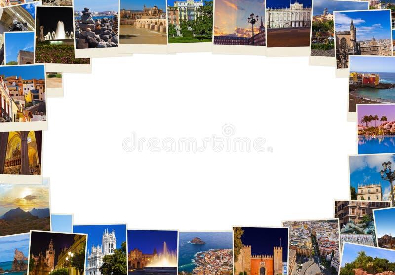 框架由西班牙旅行图象(我的照片)做成 免版税库存照片