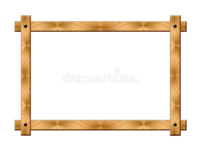 框架简单木 库存照片