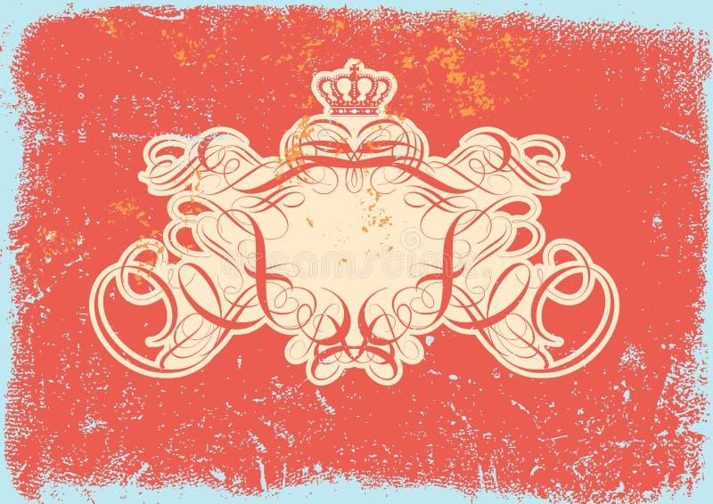框架纹章学题为 皇族释放例证