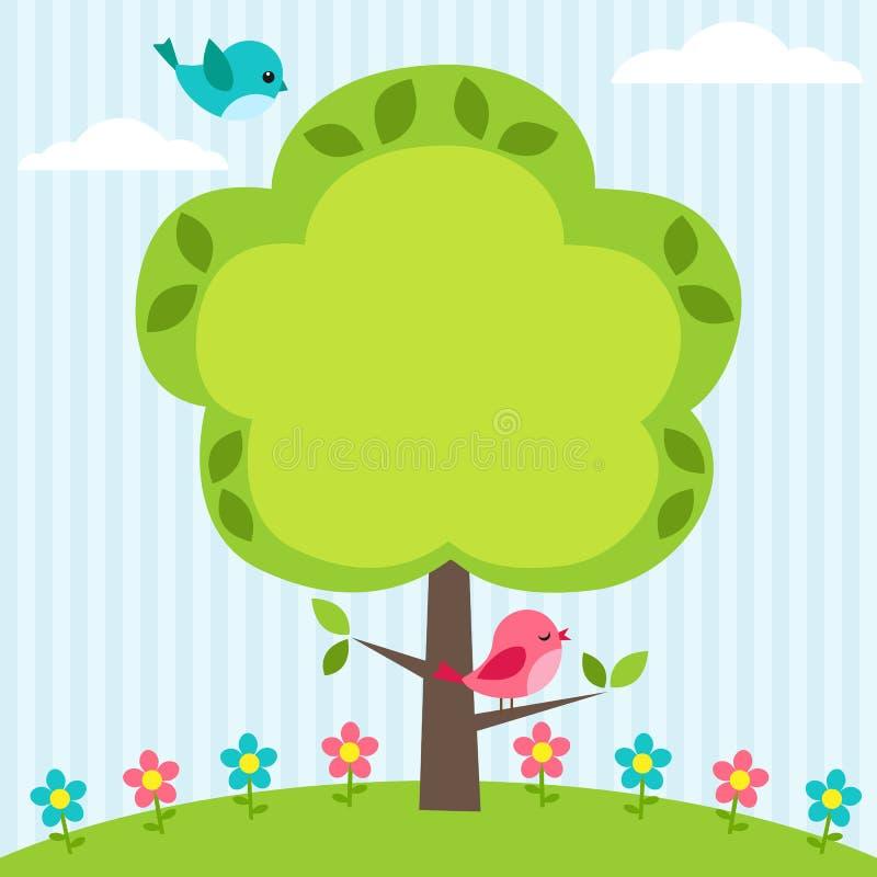 框架结构树 皇族释放例证