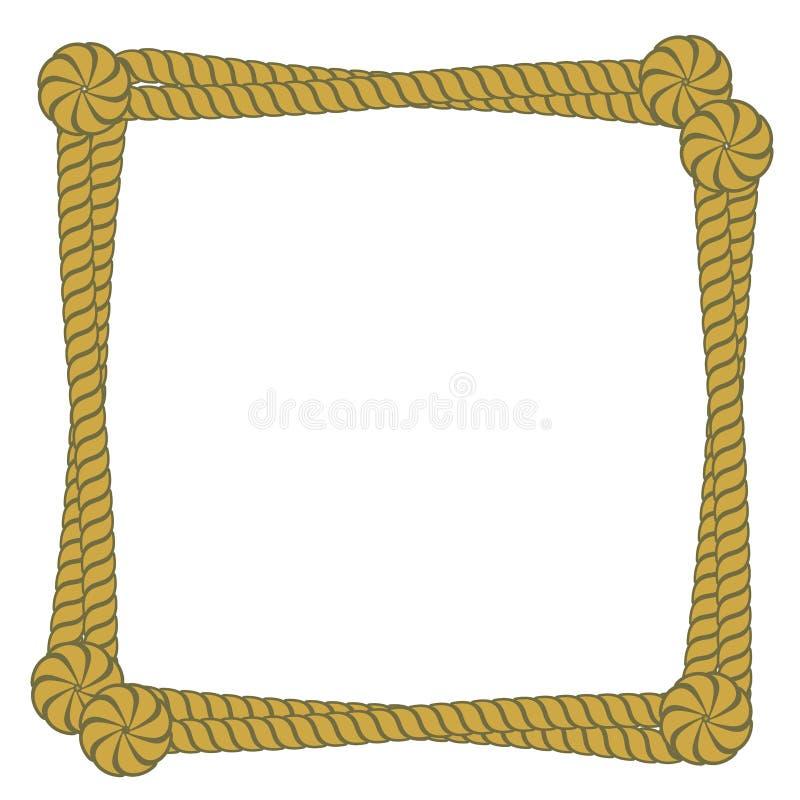 框架绳索向量 皇族释放例证