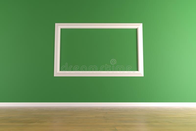框架绿色照片墙壁白色 皇族释放例证