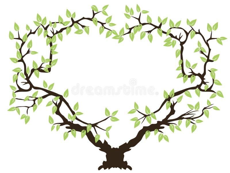 框架绿色结构树 皇族释放例证