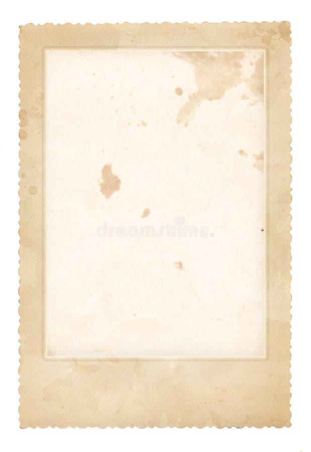 框架老照片 葡萄酒纸张 减速火箭的看板卡 免版税库存照片