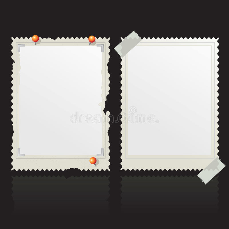 框架老照片 库存例证
