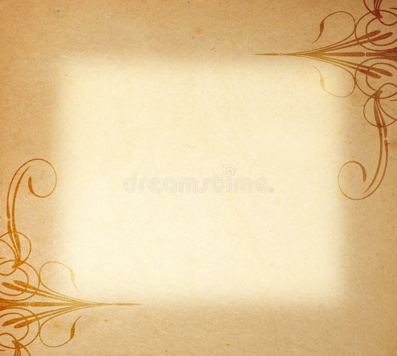 框架老装饰品纸张 免版税库存照片