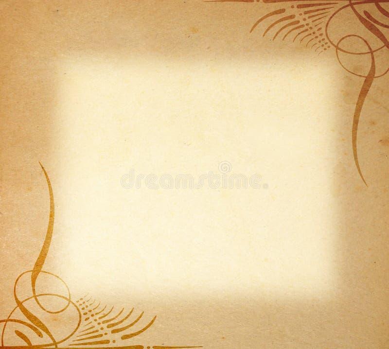 框架老装饰品纸张 图库摄影