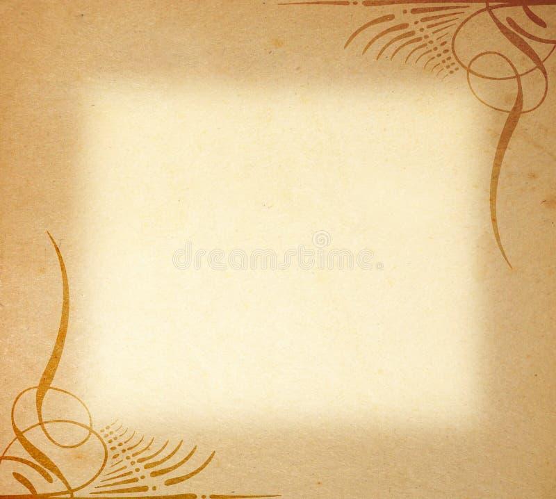 框架老装饰品纸张 库存例证