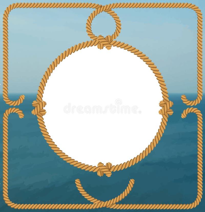 框架船舶绳索 皇族释放例证