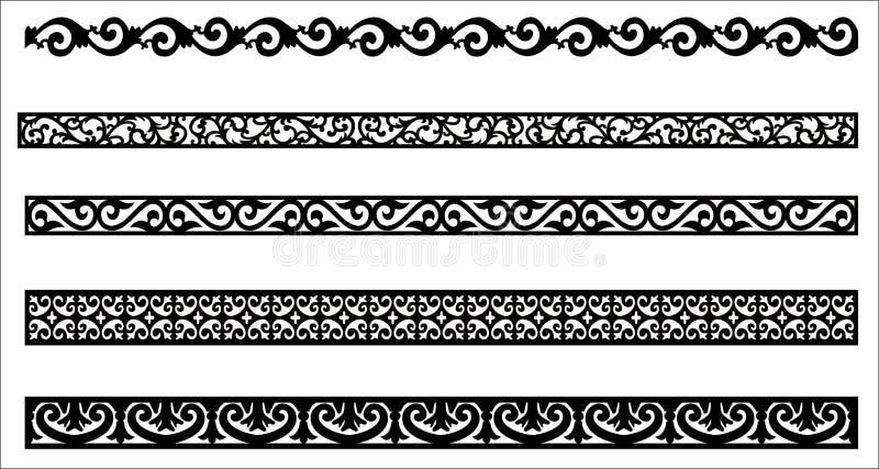 框架设计的边缘装饰品 皇族释放例证