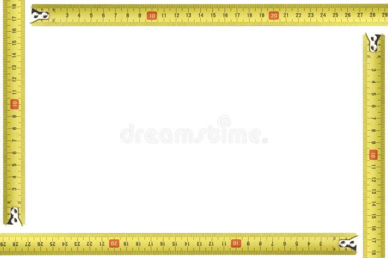 框架评定的照片工具黄色 库存图片