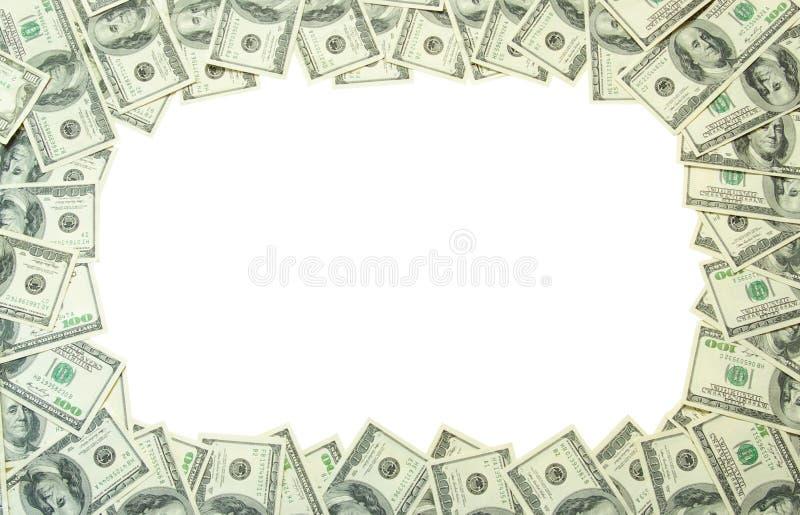 框架货币 库存图片