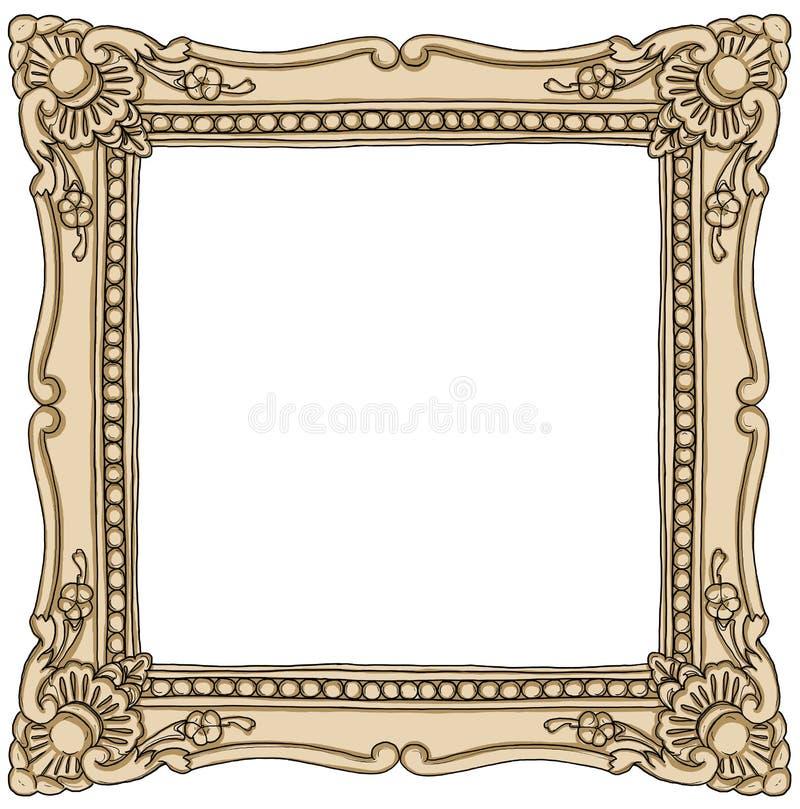 框架边界葡萄酒绘画 库存例证