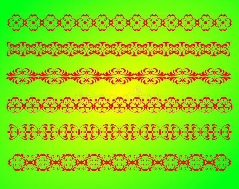 框架边界装饰 向量例证