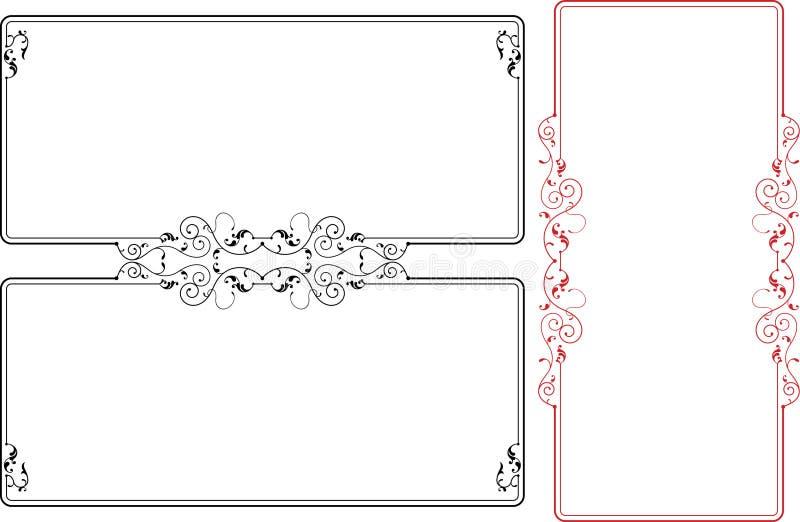 框架边界设计 皇族释放例证