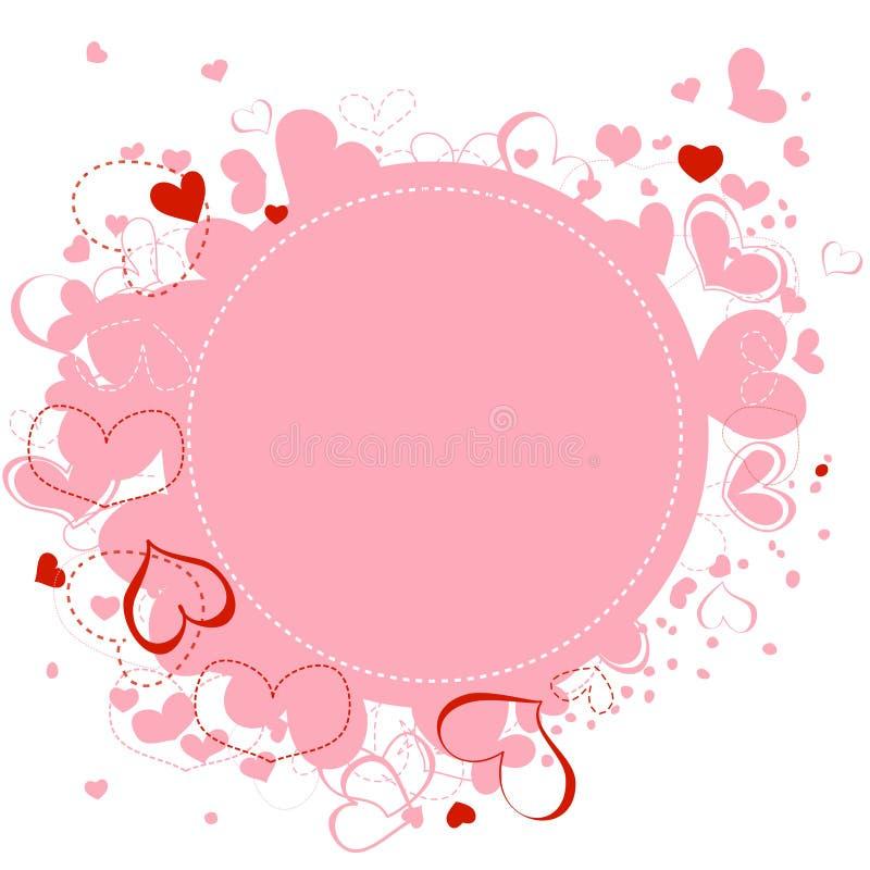 框架重点粉红色 皇族释放例证