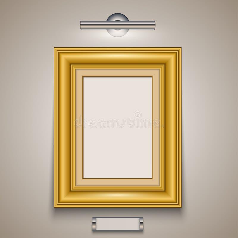 框架金子查出的图象白色 皇族释放例证