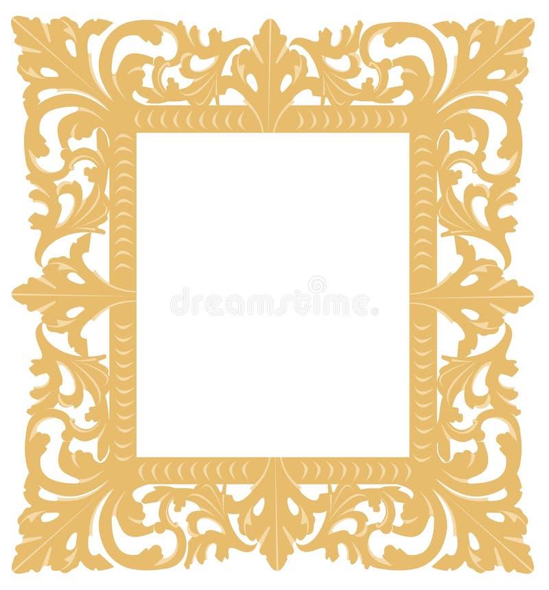 框架金子 向量例证