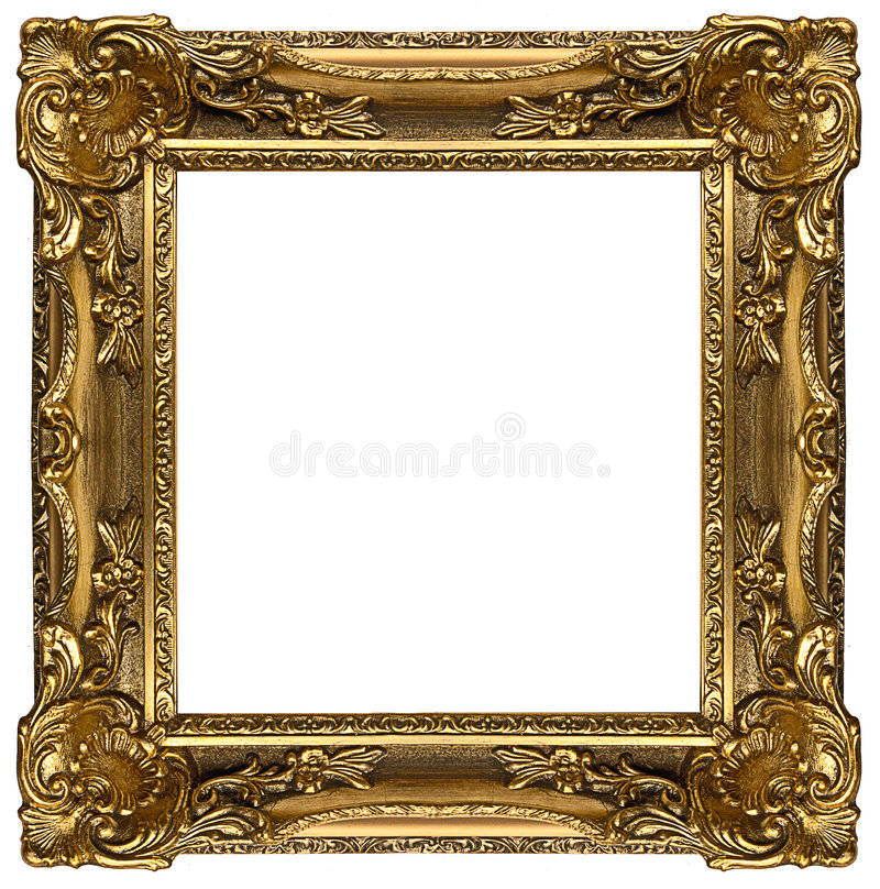 框架金子 免版税图库摄影