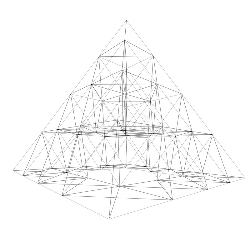 框架金字塔电汇 库存例证