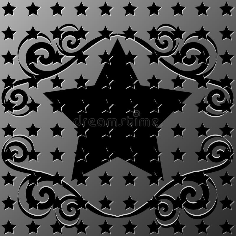 框架金属装饰品担任主角纹理 库存例证