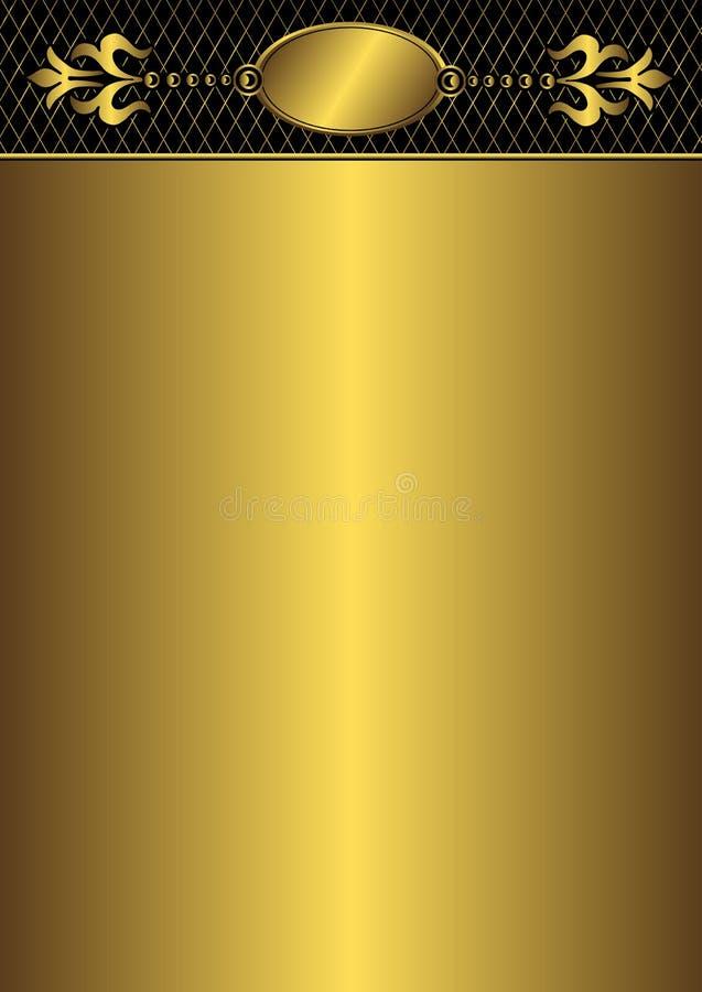 框架金黄向量葡萄酒 皇族释放例证