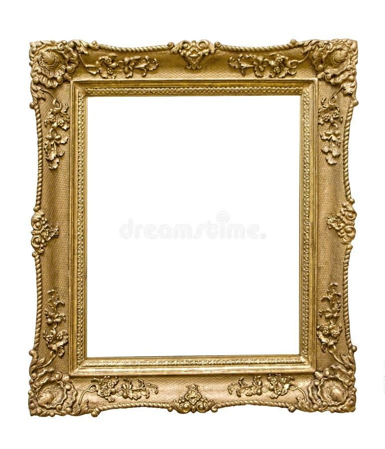 框架金黄照片 免版税库存照片