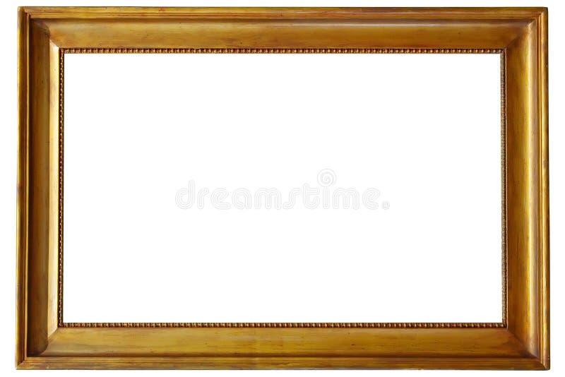 框架金黄照片 图库摄影