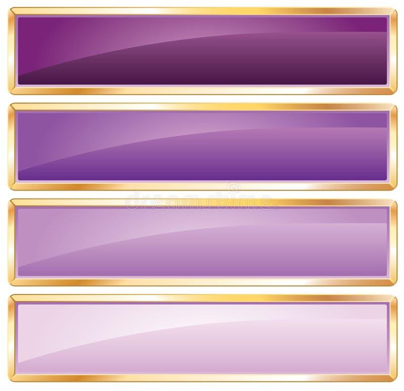 框架金黄紫色 向量例证
