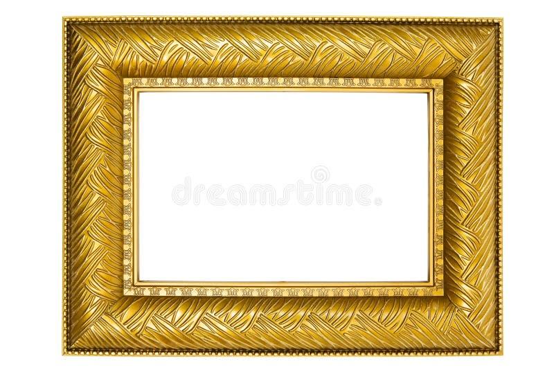 框架金黄装饰品照片 免版税库存图片