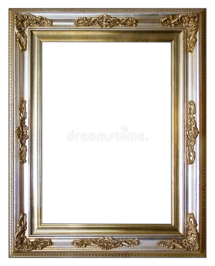 框架银色葡萄酒 库存图片