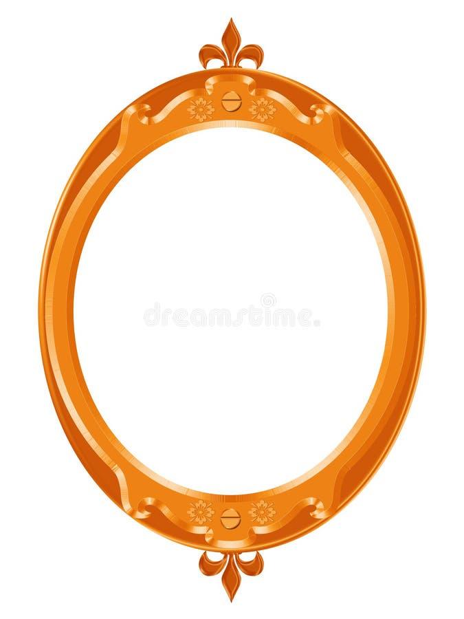 框架长圆形 向量例证