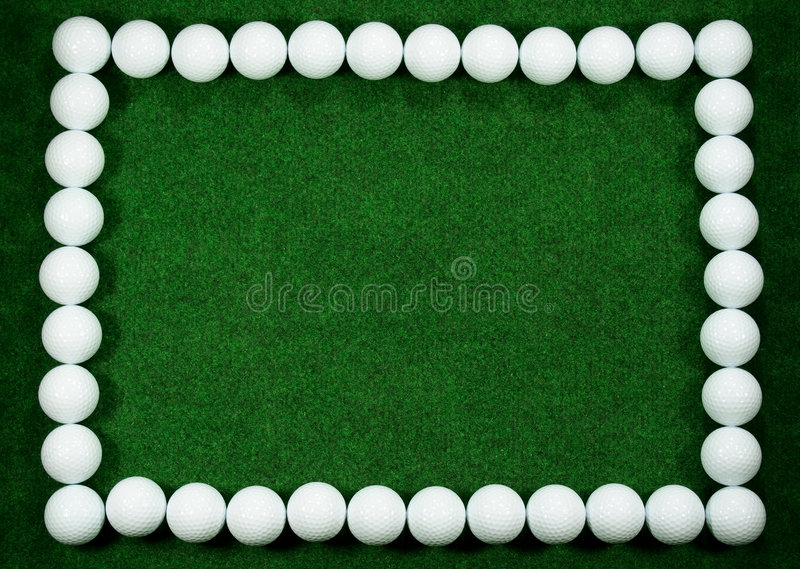 框架高尔夫球 免版税库存照片