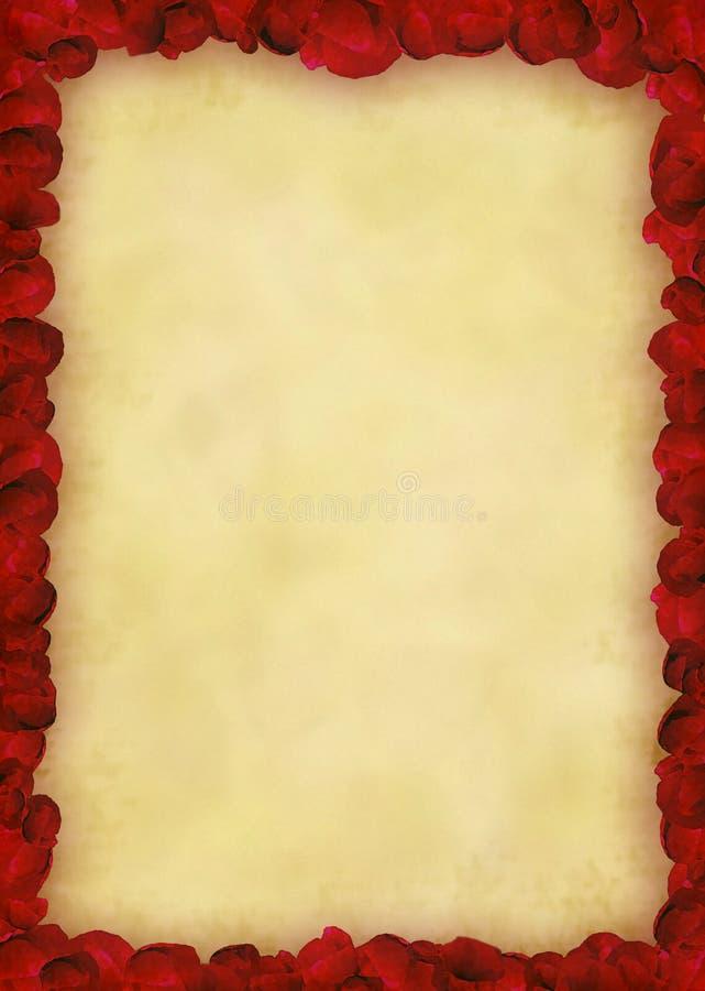 框架鸦片红色 库存例证